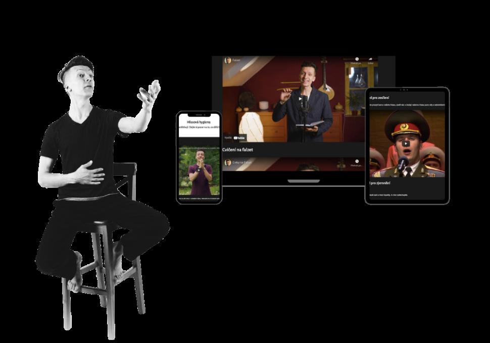 Dalibor popěvkem nažidli sedící opěvuje digitální zařízení nakterých si kurz svůj zobrazuje, ha!